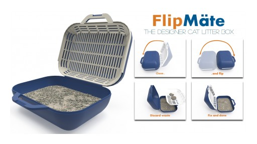 FlipMate Reinvents the Litter Box to Make Cat Households Even Happier by Eliminating the Messy Headaches
